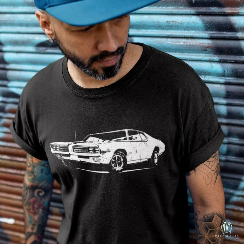 69 Pontiac GTO Unisex T-shirt, Men's Shirts, Women's Shirts, Old Classic Muscle Cars, Vintage Cars, Chevy Car Shirts, Old Cars, Antique