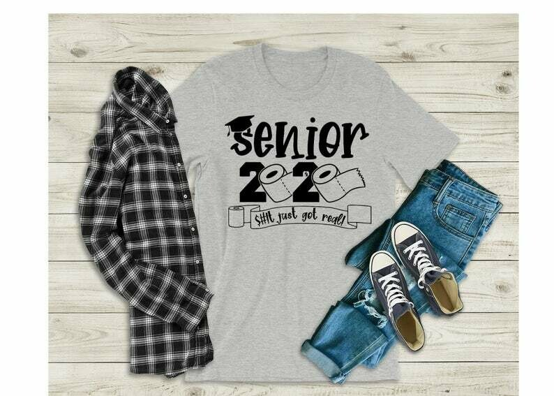 Senior 2020 Gift for Him, Seniors Friends Class of 2020 This Just Got Real Shirt Graduation Gift The One Where They Graduate