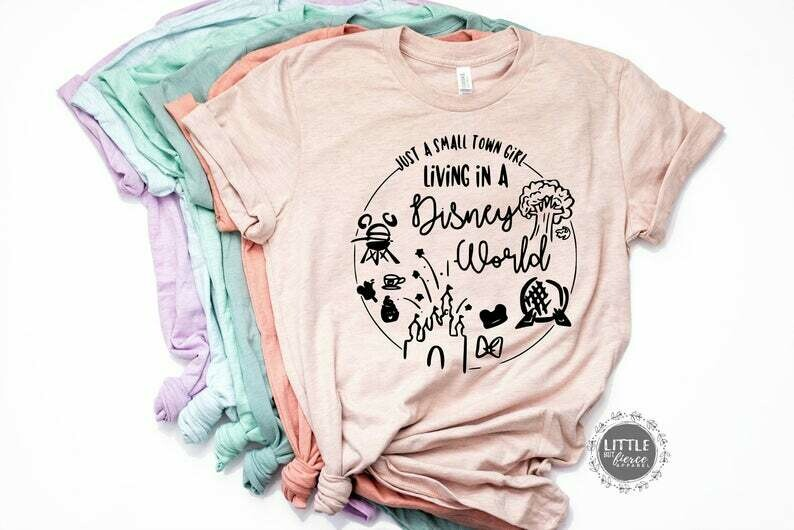 Disney shirt, Small town girl Living in a Disney World Shirt - Disney Shirts for women - Disney world shirts - Disney trip tees, Family