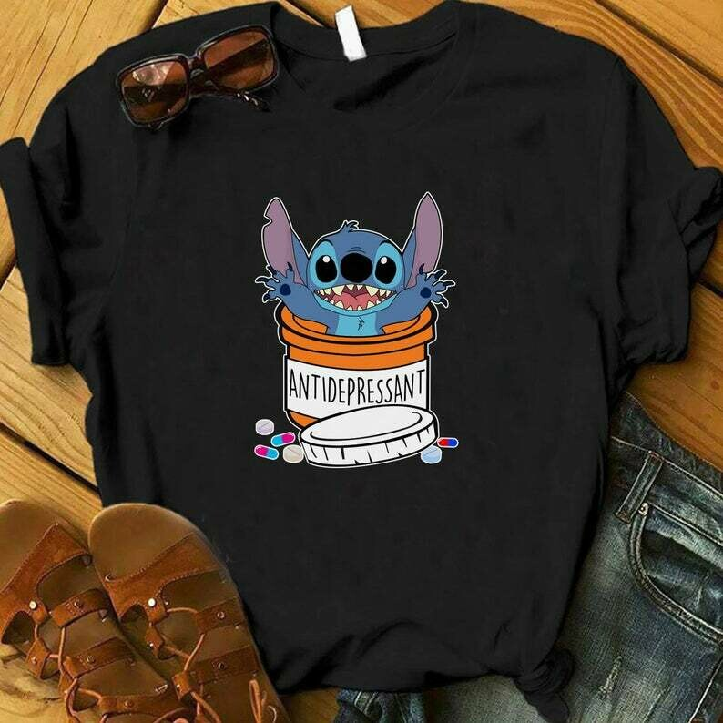 Antidepressant Stitch Shirt, Cute Disney Shirts, Disney Shirts, Girls Trip Disney Shirt, Stitch Shirt, Stitch Disney Vacation Shirt