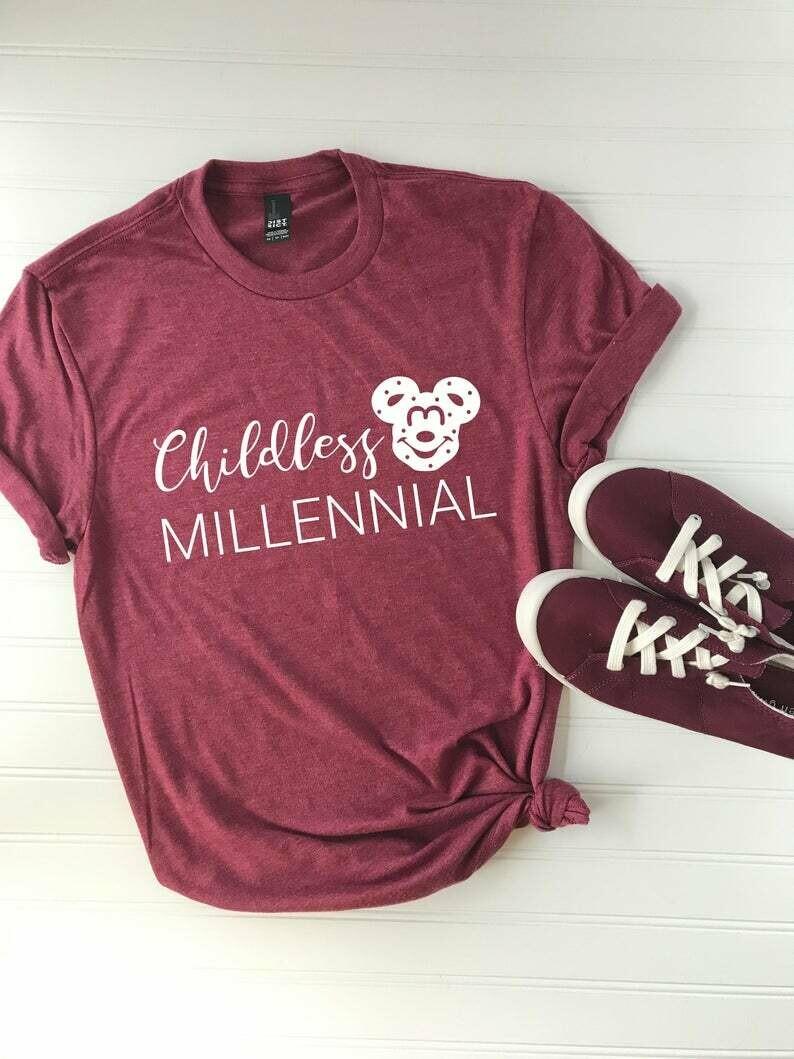 Childless Millennial | Disney Themed Shirt | Mickey Pretzel | Millennial Shirt | Cute Tee