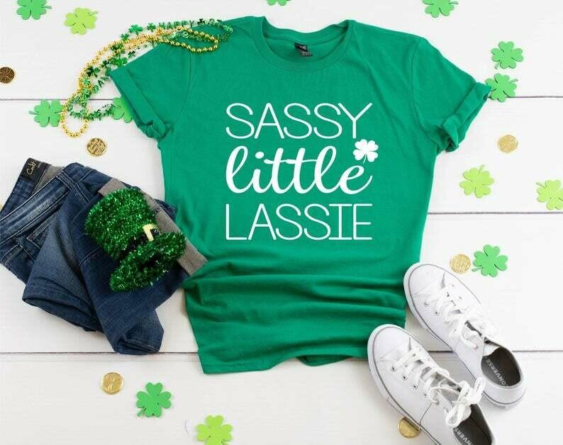 St. Patricks Day, Irish Shirt, Sassy Little Lassie, Day Drinking Shirt, St Pattys Day Womens Shirt