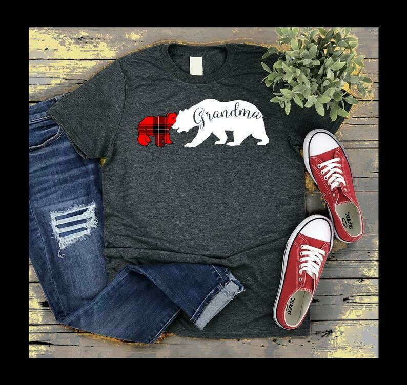 Grandma Bear Shirt, Grandma Bear With Four 4 Cub, Nana Christmas Gift, Matching Bear Family Shirt, First Time Grandma, Fathers Day Shirt For