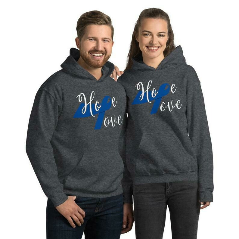 Colorectal Cancer Hoodie, Colorectal Awareness Hoodie, Colorectal Cancer Survivor Hoodie, Cancer Warrior Hoodie, Colorectal Women Men