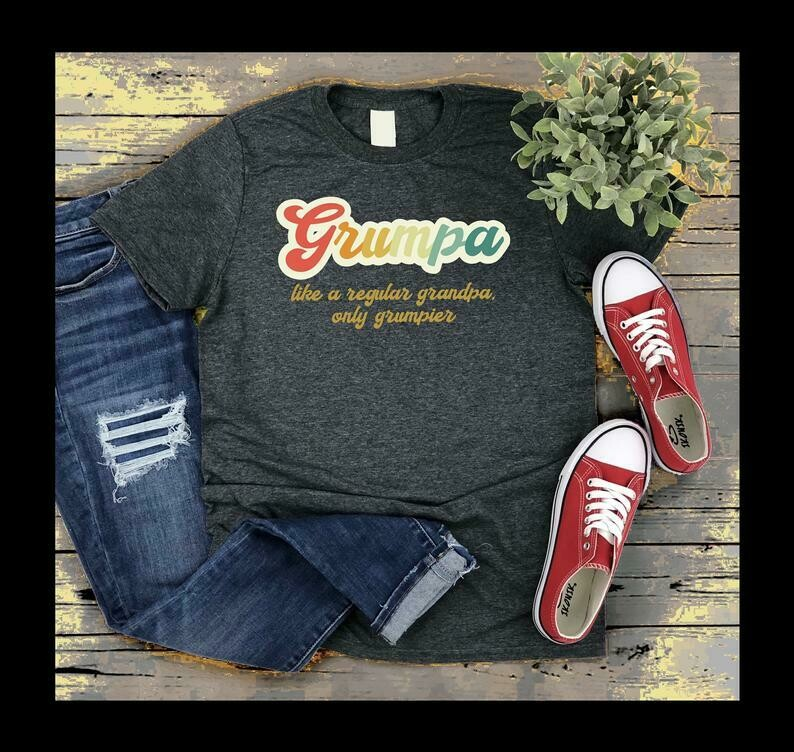 Grumpa Shirt, Grumpa Definition Shirt, Grumpa Like A Regular Grandpa Only Grumpier Birthday Christmas Gift For Papa