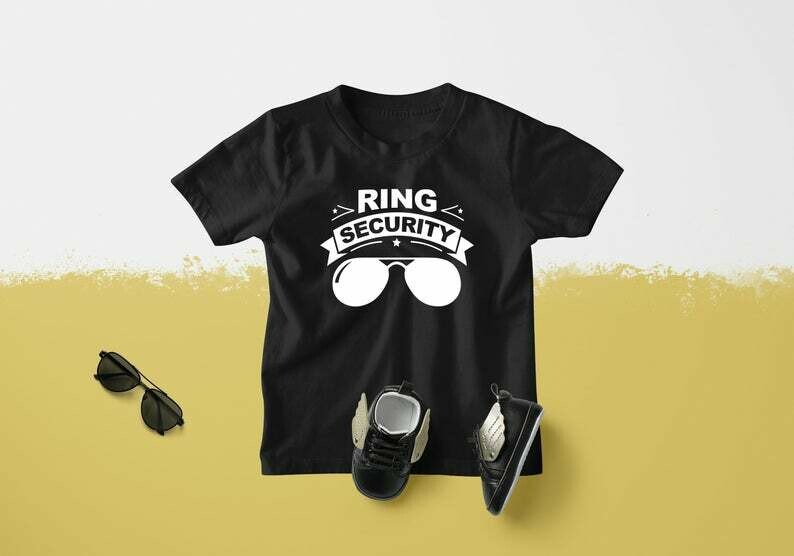 Ring Police Ring Security Groomsmen Tshirt