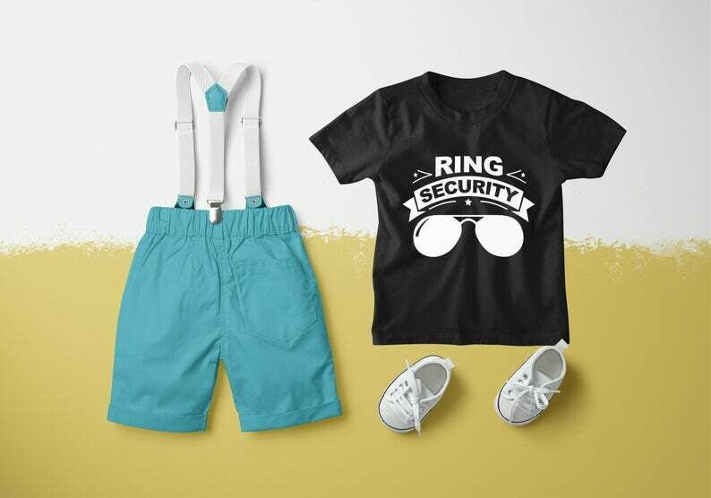 Ring Agent Boys Ring Security Shirt, Wedding Party Shirt