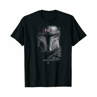 Star Wars The Mandalorian Dark Portrait T-Shirt