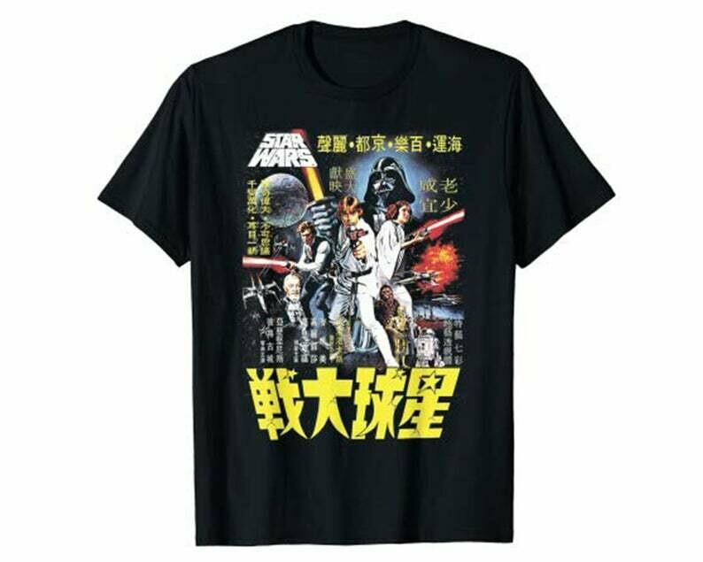 Star Wars Vintage Japanese Movie Poster T-Shirt
