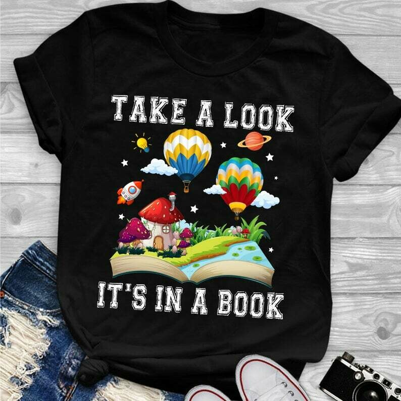 Take A Look It's In A Book Reading Lovers