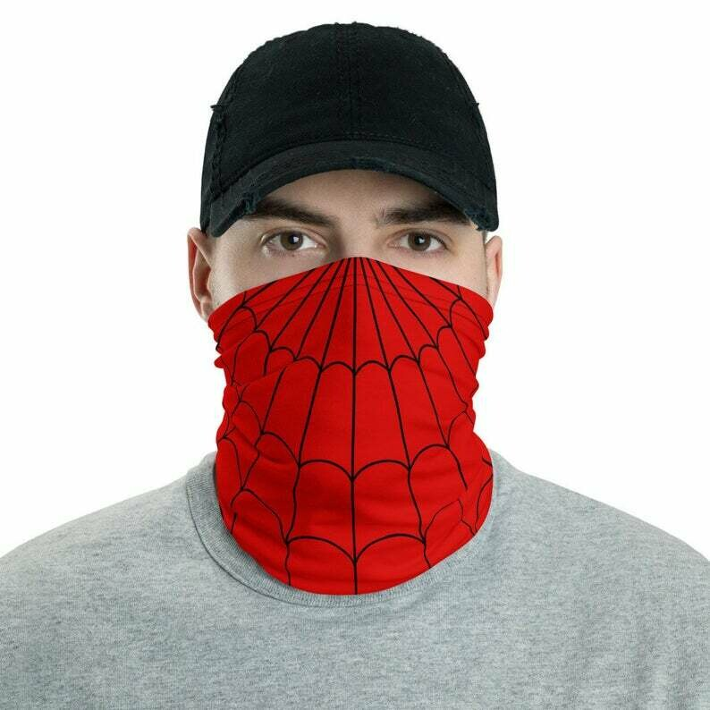 Funny Reusable Face Mask Scarf Spider Parody