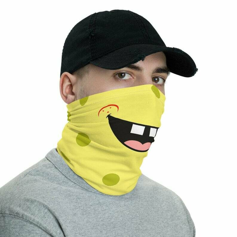 Funny Reusable Face Mask Sponge Mouth