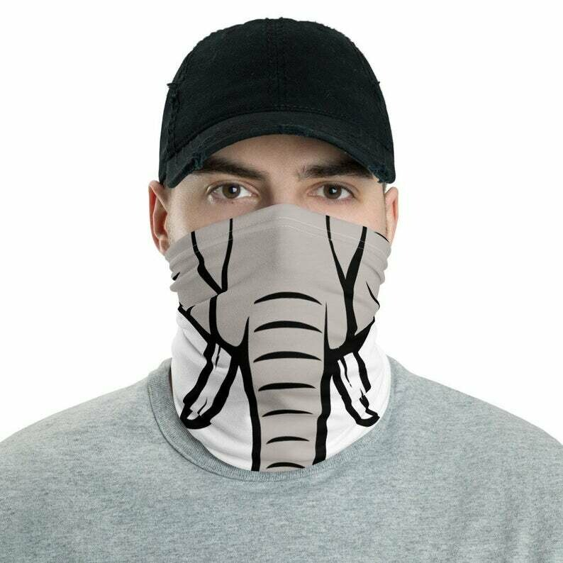 Funny Reusable Face Mask Scarf Elephants Trunk