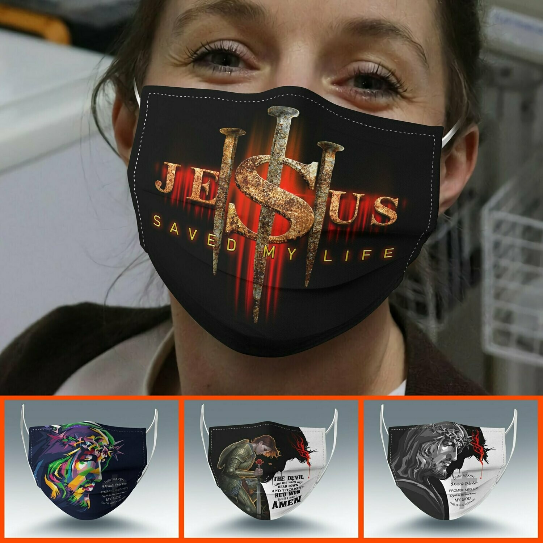 Jesus God changed my life Face Mask