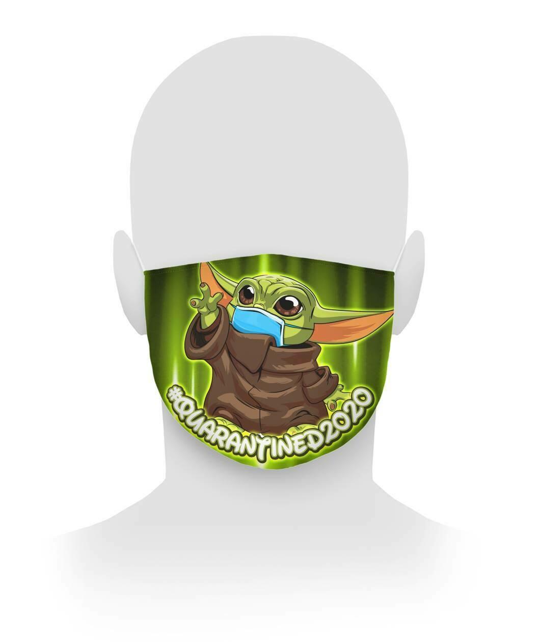 Baby Yoda Quarantined 2020 Face Mask