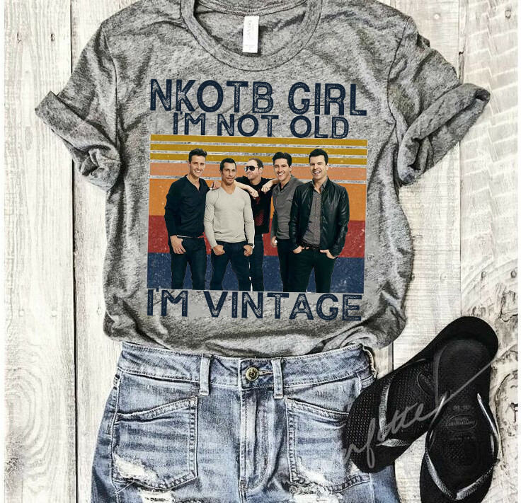 New Kids on the Block NKOTB Girl I'm not old I'm vintage shirt