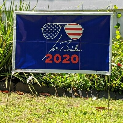 Cool Joe Biden Signature Yard Sign Flag