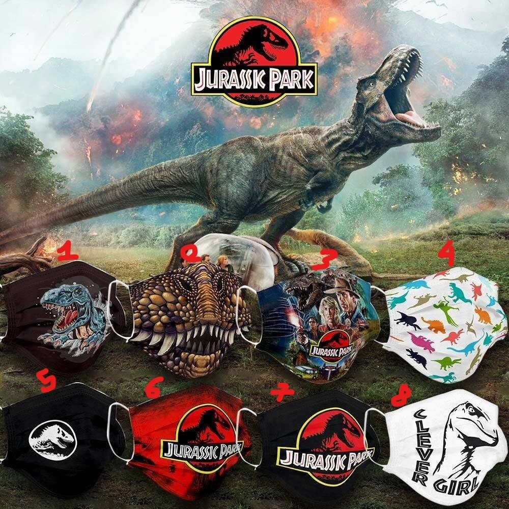 Jurassic Park Dinosaurs Face Mask Face Cover