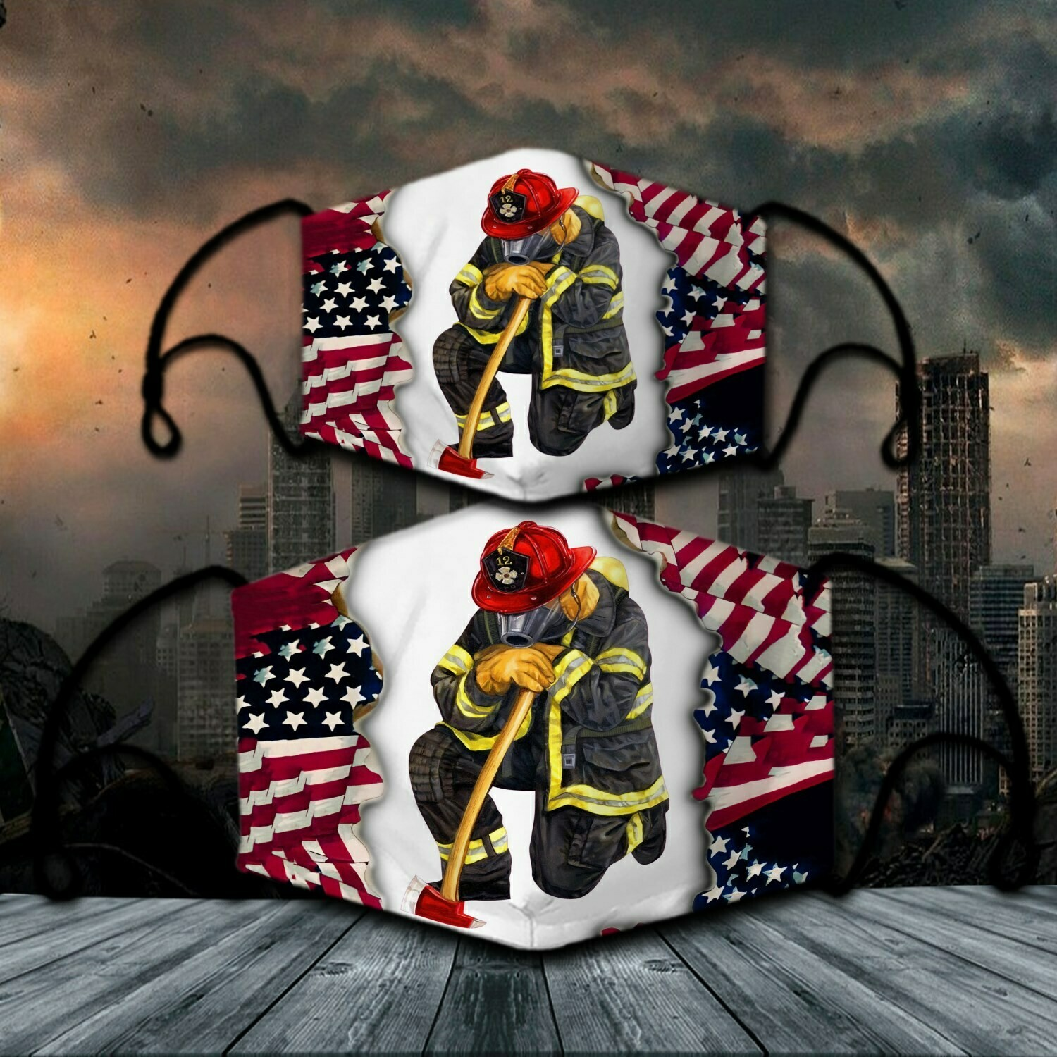 Firefighter American Face Mask Face Cover