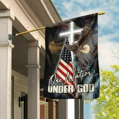 One Nation Under God America Flag