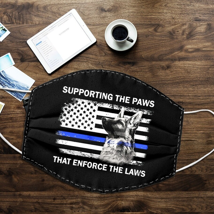 Supporting The Paws That Enforce The Laws Police Dog Face Mask