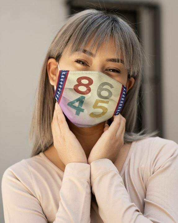 8645 Vintage Face Mask, 3D Face Mask, All Over Prints Face Mask