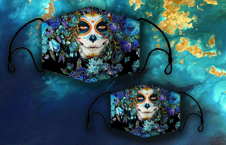 Skull Face Mask, All Over Prints Face Mask, 3D Face Mask