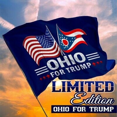 Ohio For Trump House Flag, Wall Flag, Garden Flag