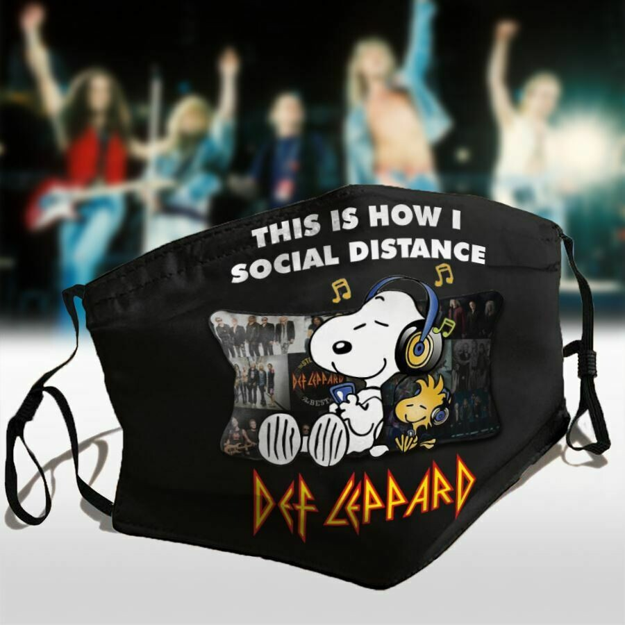 Snoopy This Is How I Social Distance Def Leppard Face Mask, 3D Face Mask, All Over Prints Face Mask