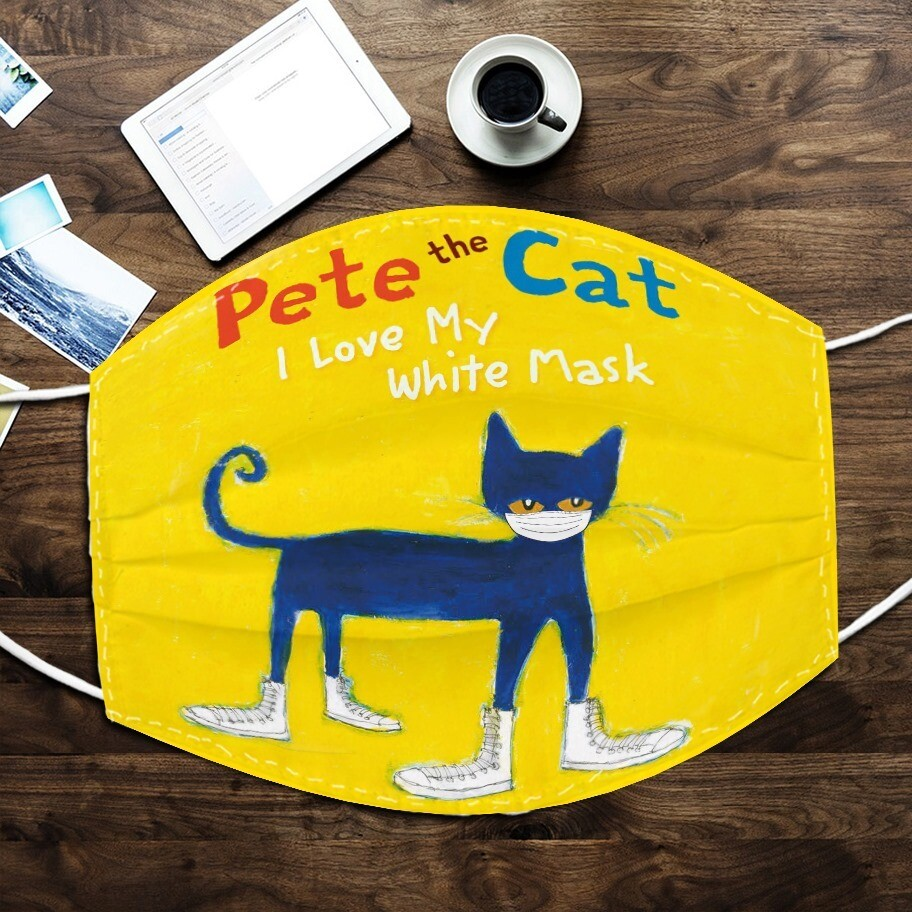 Pete The Cat I Love My White Mask Face Mask, 3D Face Mask, All Over Prints Face Mask