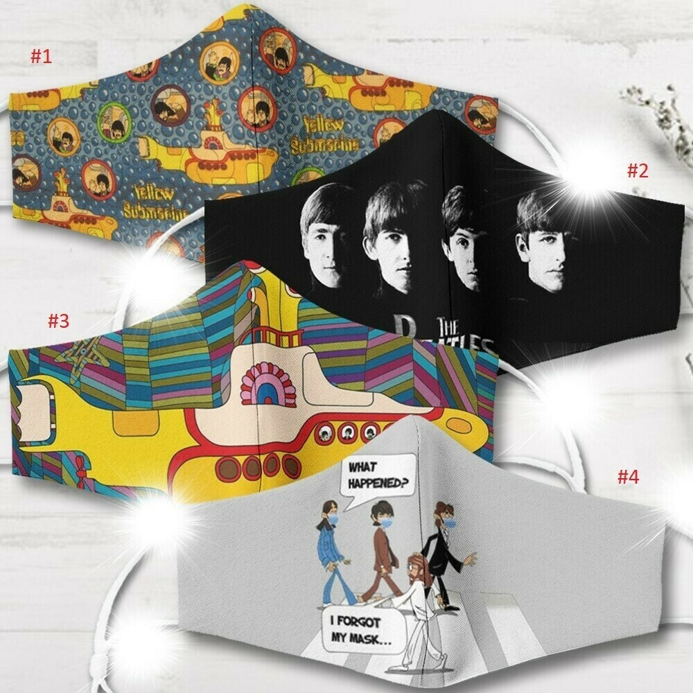 The Beatles Face Mask - 3D Face Mask - All Over Prints Face Mask