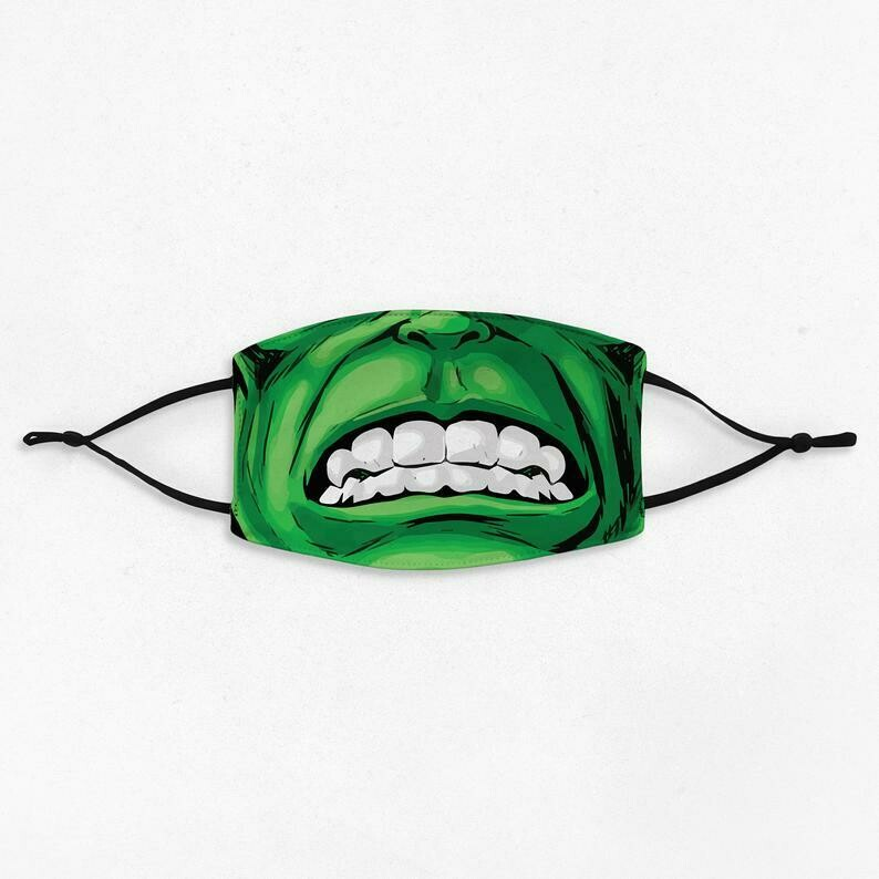 The Incredibles Hulk Avengers Face Mask - All Over Prints Face Mask