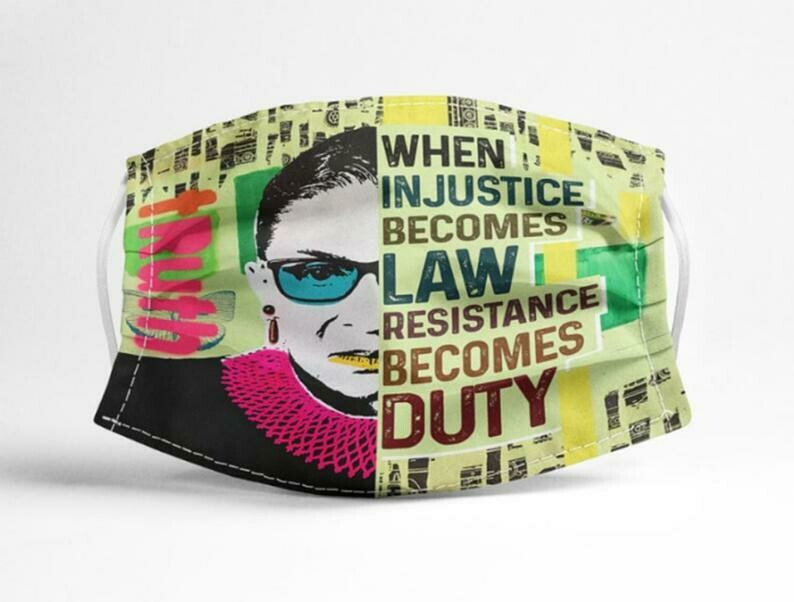 When In Justice Becomes Law Resistance Be Comes Duty Mask, RGB Quote 3D Cotton Face Mask, Washable Anti Droplet Face Mask