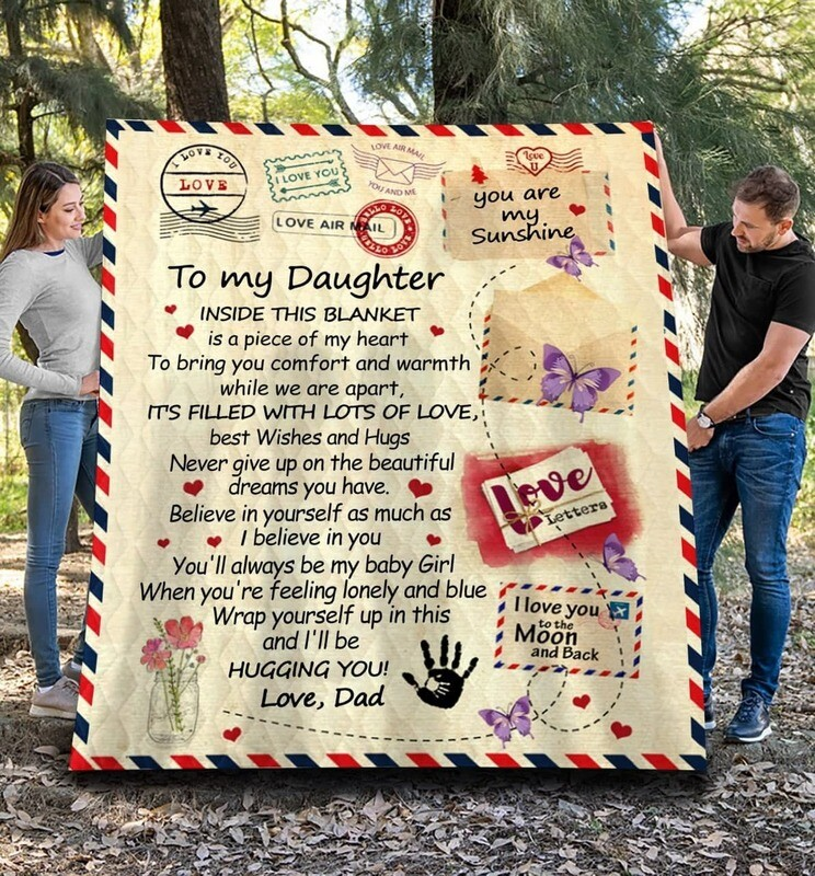 From Dad To My Daughter Fleece Blanket 50x60; 60x80 Made In US