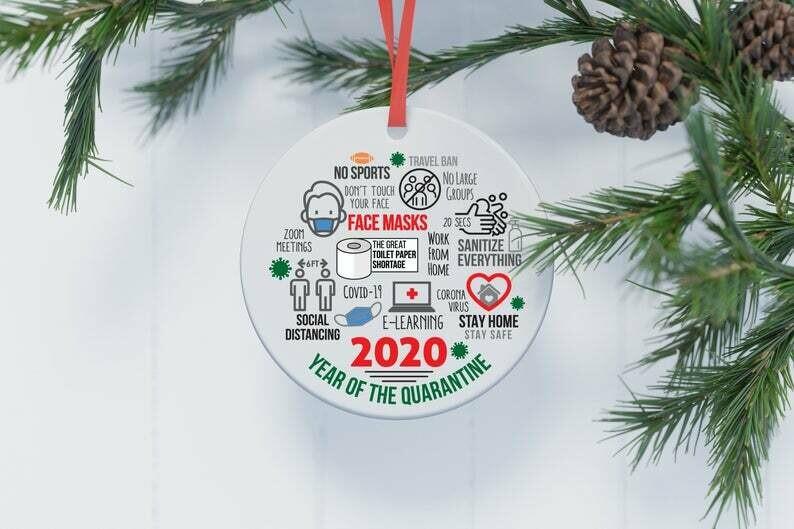 2020 Christmas Ornament   2020 Christmas Decoration   2020 Keepsake Bauble   Lockdown   Quarantine   Pandemic   Coronavirus   COVID   Gift