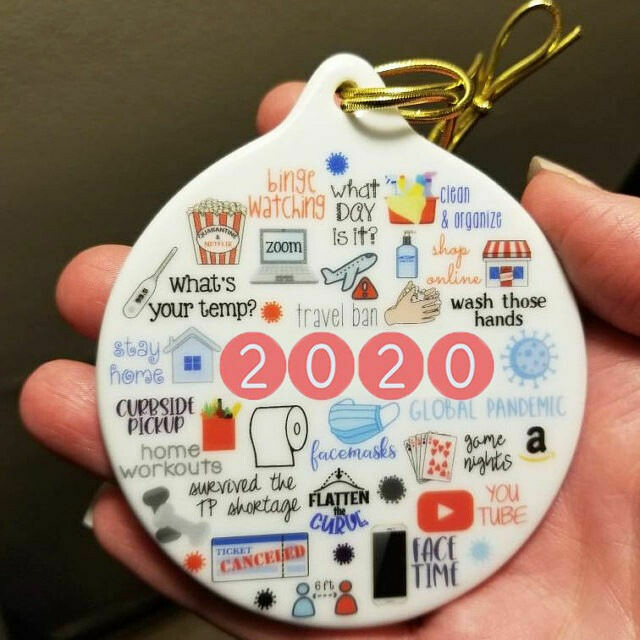 Quarantine Christmas Ornament   2020 Ornament   Toilet Paper Ornament   Funny Gift 2020   Pandemic Ornament   2020 Memories   Covid Virus TP