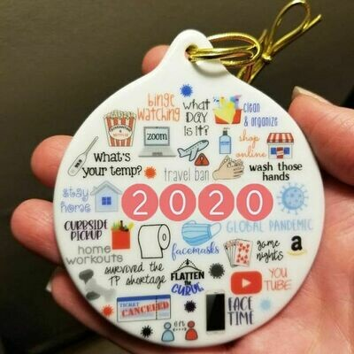 Quarantine Christmas Ornament | 2020 Ornament | Toilet Paper Ornament | Funny Gift 2020 | Pandemic Ornament | 2020 Memories | Covid Virus TP