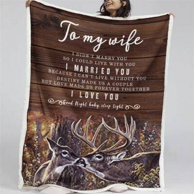 To my wife blanket, Husband to wife blanket, Best gifts ideas for your wife