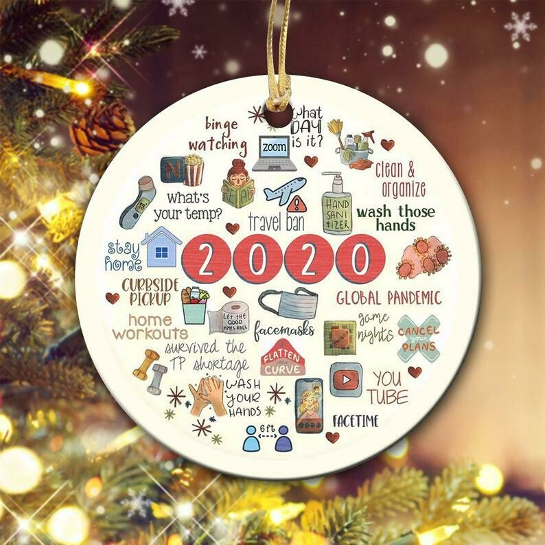 2020 A Year To Remember Christmas Ornament | 2020 Ornament | Quarantine Ornament Commemorative 2020 | Free Wooden Gift Box