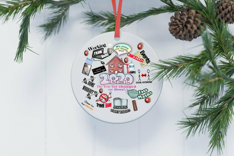 2020 Christmas Ornament | 2020 Christmas Decoration | 2020 Keepsake Bauble | Lockdown | Quarantine | Pandemic | Coronavirus | COVID | Tree
