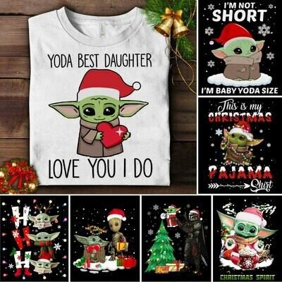 Personalized Yoda Best Daughter Shirt Love You I do Unisex Adult Clothing Custom Baby Yoda, Christmas Gift, Funny Christmas Shirt