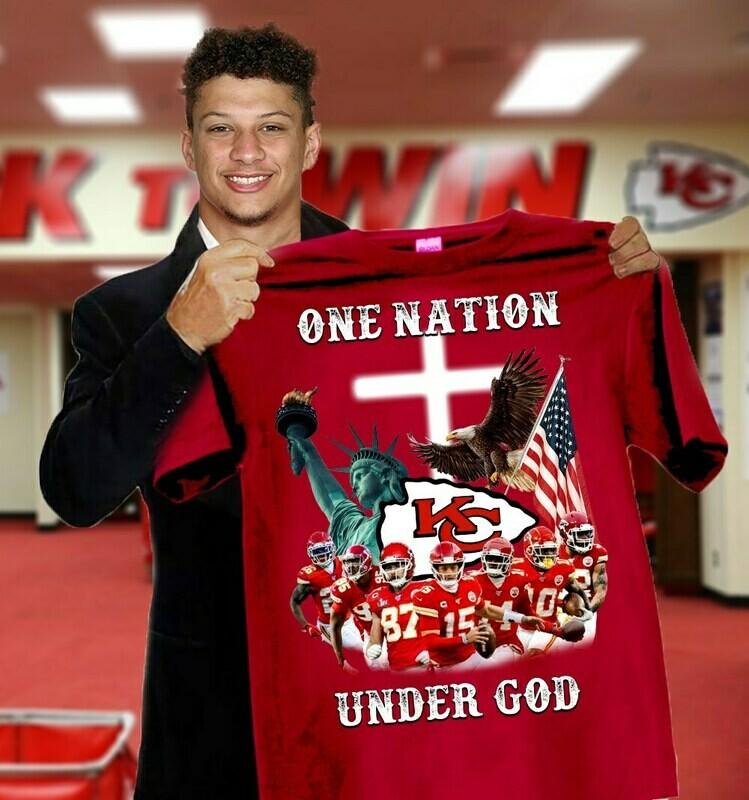 Kansas City Chiefs One Nation Under God T-Shirt, Hoodie, Sweatshirt