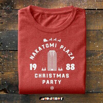 Nakatomi Plaza Holiday Christmas Shirt, Christmas Party, Christmas Movies Shirt, Die Hard, Christmas Men's Graphic T-Shirt