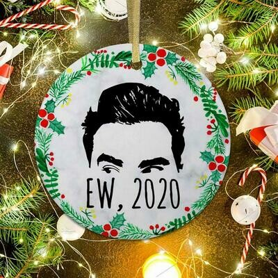 Ew 2020 Christmas Ornament David Rose Ew 2020 David Ornament David Rose Christmas Ornament Schitt's Lovers Creek Ornament