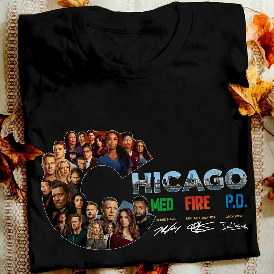 Chicago Med Fire PD Signatures T-shirt, hoodie, Sweatshirt, Long Sleeve