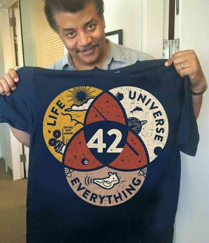 42 The Answer To Life The Universe And Everything Shirt, Vintage Classic Shirt, Funny Science Lover Shirt, Funny Hiking T-Shirt
