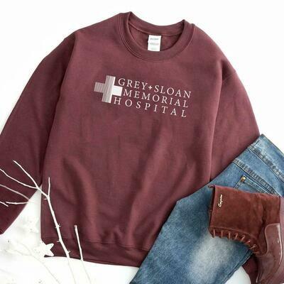Grey Sloan Memorial Hospital Sweatshirt, Grey's Anatomy, Grey Sloan Sweatshirt, Meredith Grey, Grey's Anatomy Gift, Grey Sloan Memorial