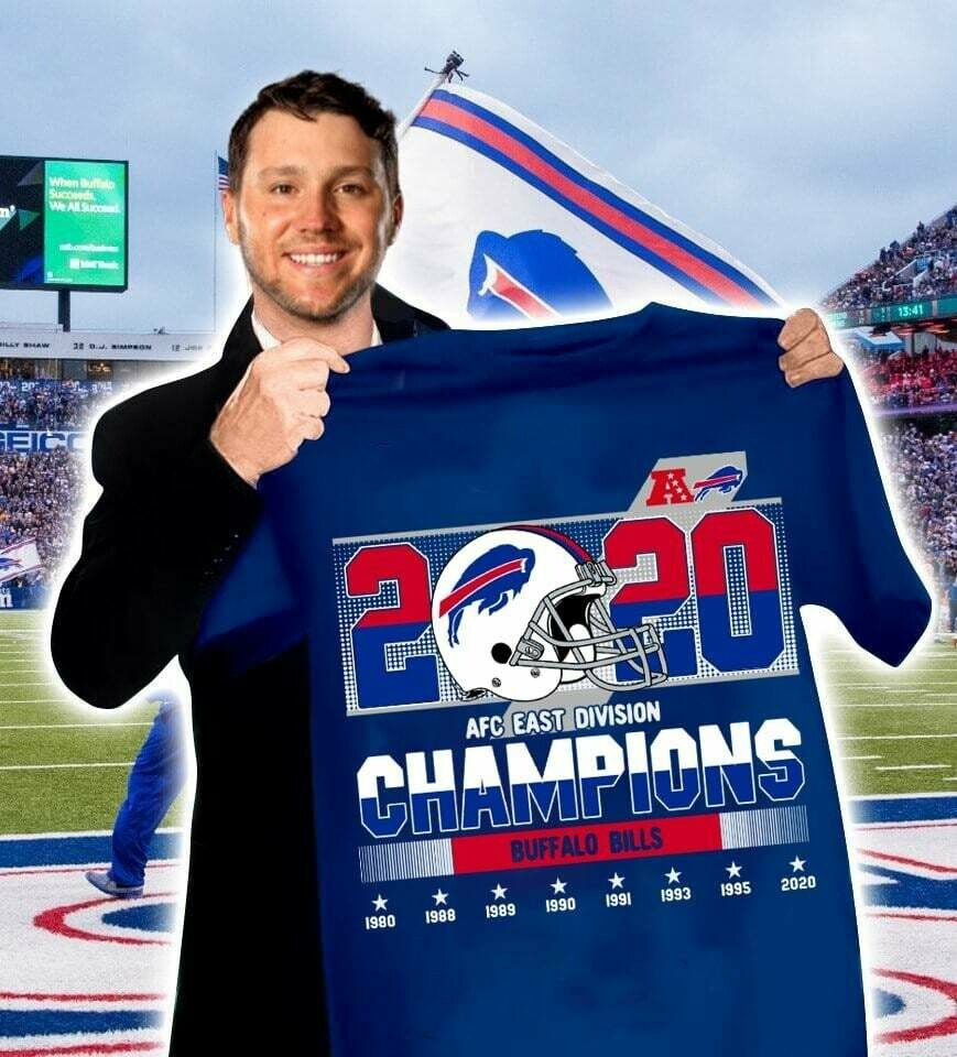 Buffalo Bills 2020 AFC east division Champions T-shirt, Hoodie, Sweatshirt, Long Sleeve, Ladies T-shirt, Young Tee