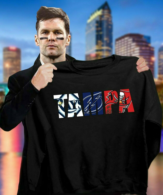Tampa Bay Buccaneers T Shirt, Tampa Bay Lightning T Shirt, Tampa Bay Rays T Shirt, Florida Shirt