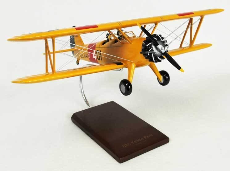 N2S-2/3/4 Stearman (Yellow Peril) 1/24 Scale Model Aircraft